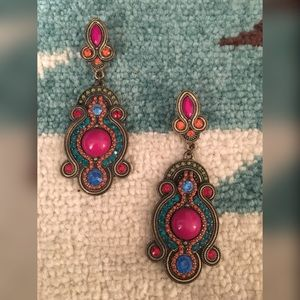 Colorful Dangly Earrings